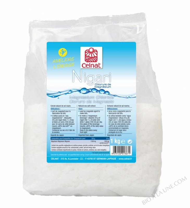 CELNAT Nigari (Chlorure de Magnésium) - 1KG