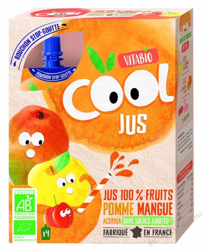 VITABIO Cool Jus Pomme Mangue Acérola
