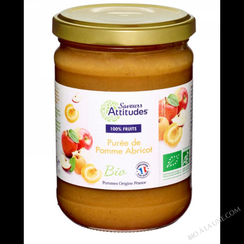 Purée de Pomme Abricot bio (Pommes de France) 560g
