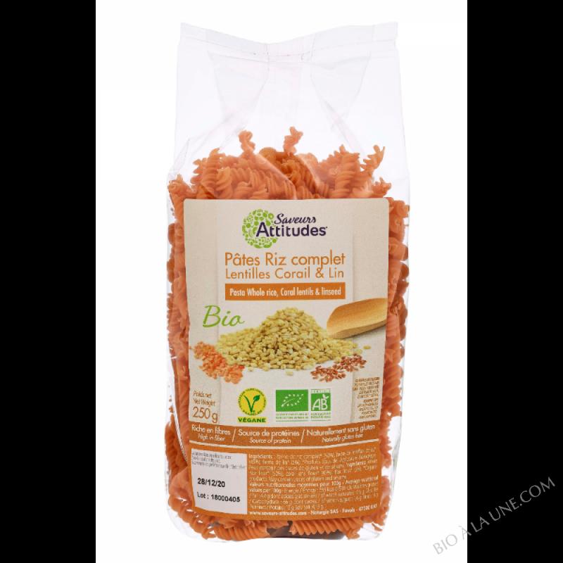 Torsades Riz Complet Lentilles Corail Lin