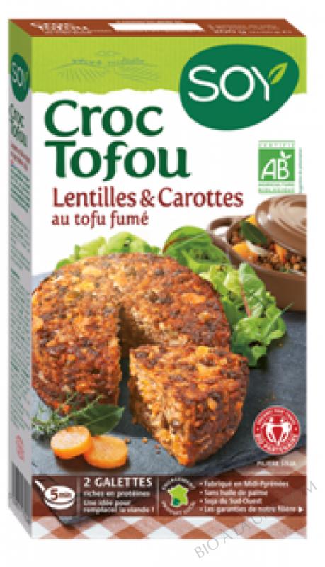 CROC TOFOU LENTILLES CAROTTES - 2X100G
