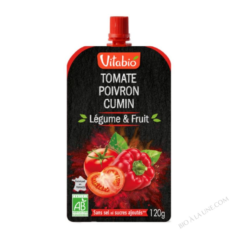 Gourde Légume & Fruit - Tomate Poivron Cumin - 120 g