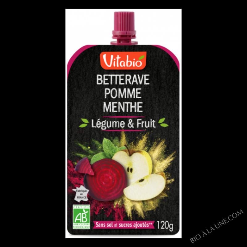 Gourdes Légume & Fruit - Betterave Pomme Menthe - 120 g