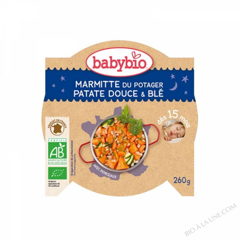 Assiette Patates Douces Ble Dès 15 mois