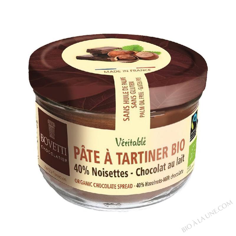 Pâte à tartiner bio Noisettes Chocolat au Lait 350g Bovetti