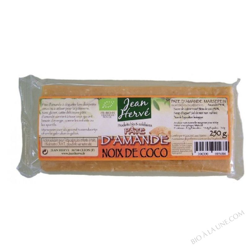 PATE AMANDE SIROP AGAVE NOIX COCO 250 G HERVE