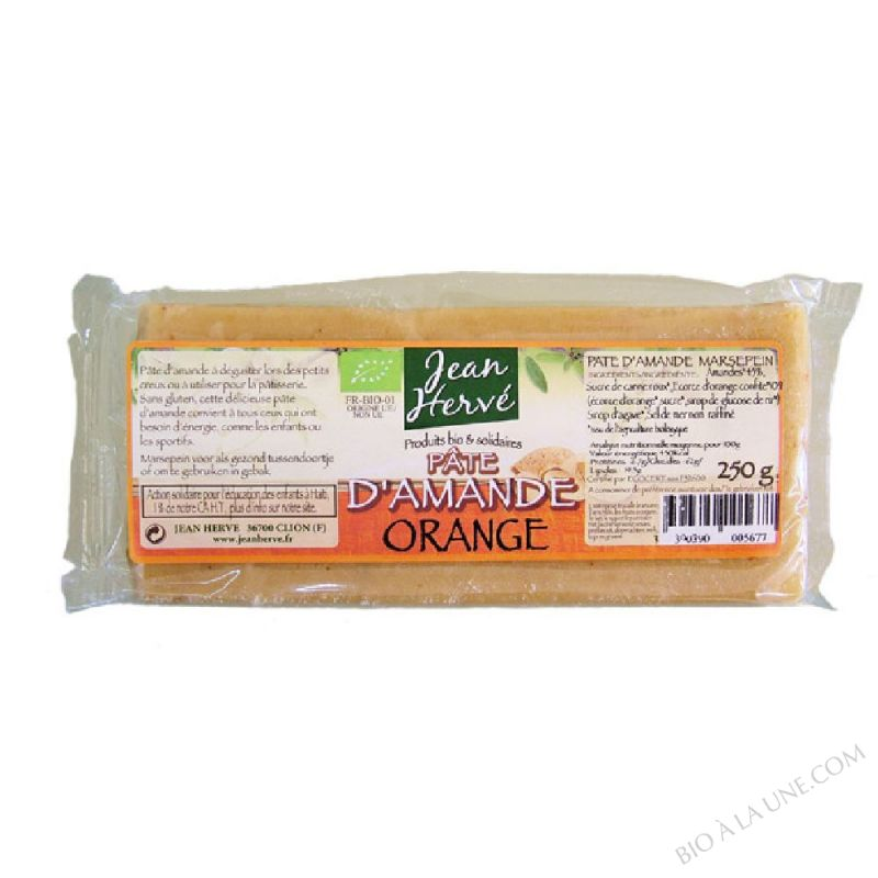 Pâte d'amande à l'ecorce d'orange - 250g