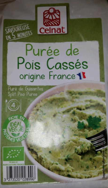 CELNAT PURÉE DE POIS CASSÉS - 200G