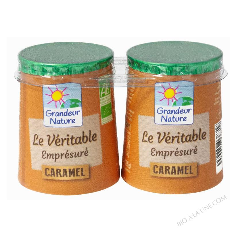 Emprésuré caramel bio 2 x125 g