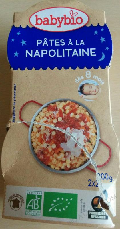 2 Bols Pâtes à la Napolitaine Parmesan Dès 8 mois