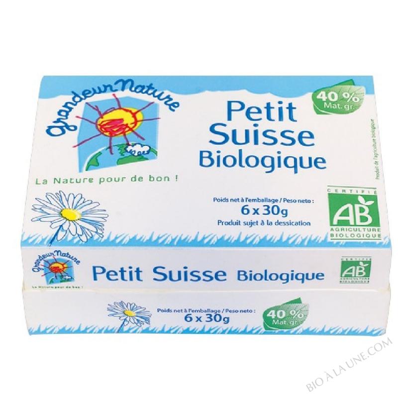PETIT SUISSE BIOLOGIQUE 6 X 30G