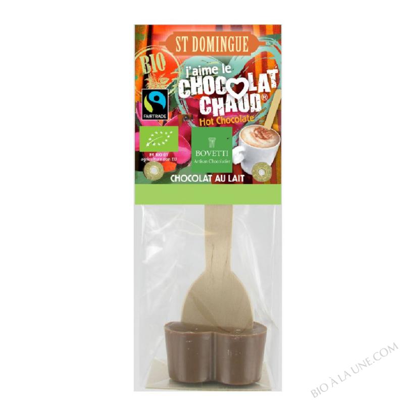 Coeur de Chocolat Chaud au Lait bio 35g Bovetti