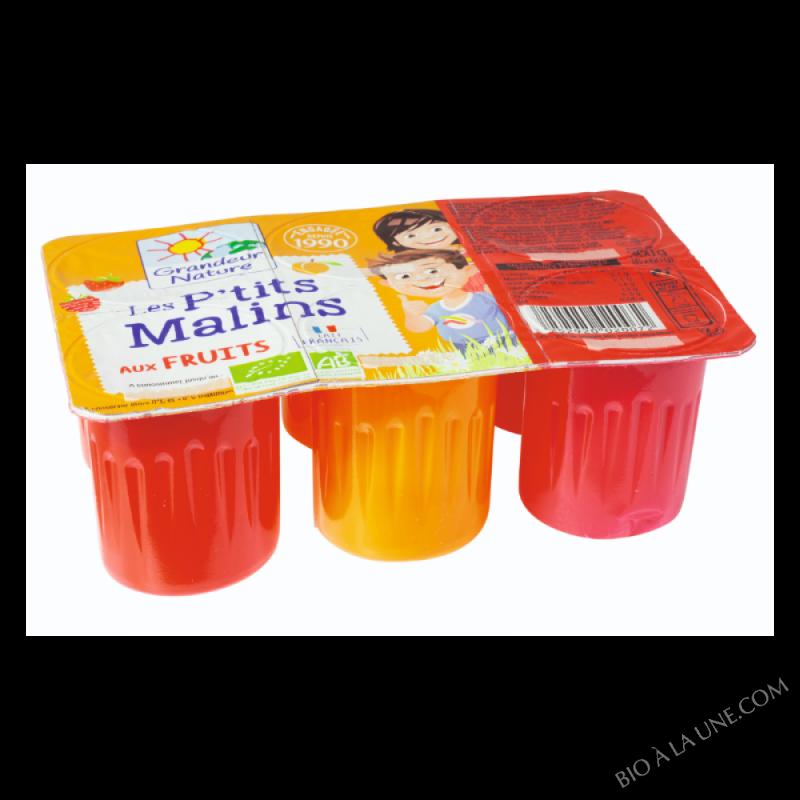 Les P'tits malins aux fruits- 6 * 60 g