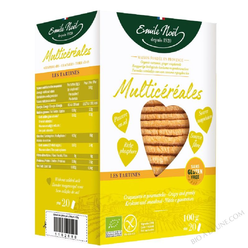 Tartines Multi-Céréales - Sans gluten