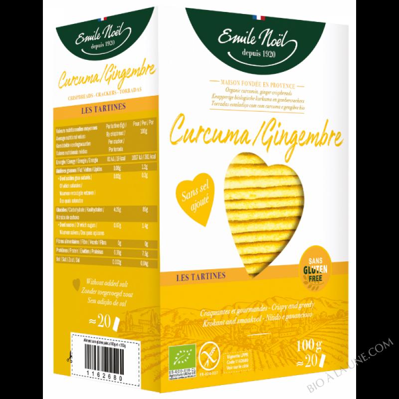 Tartines Curcuma-Gingembre - Sans Gluten