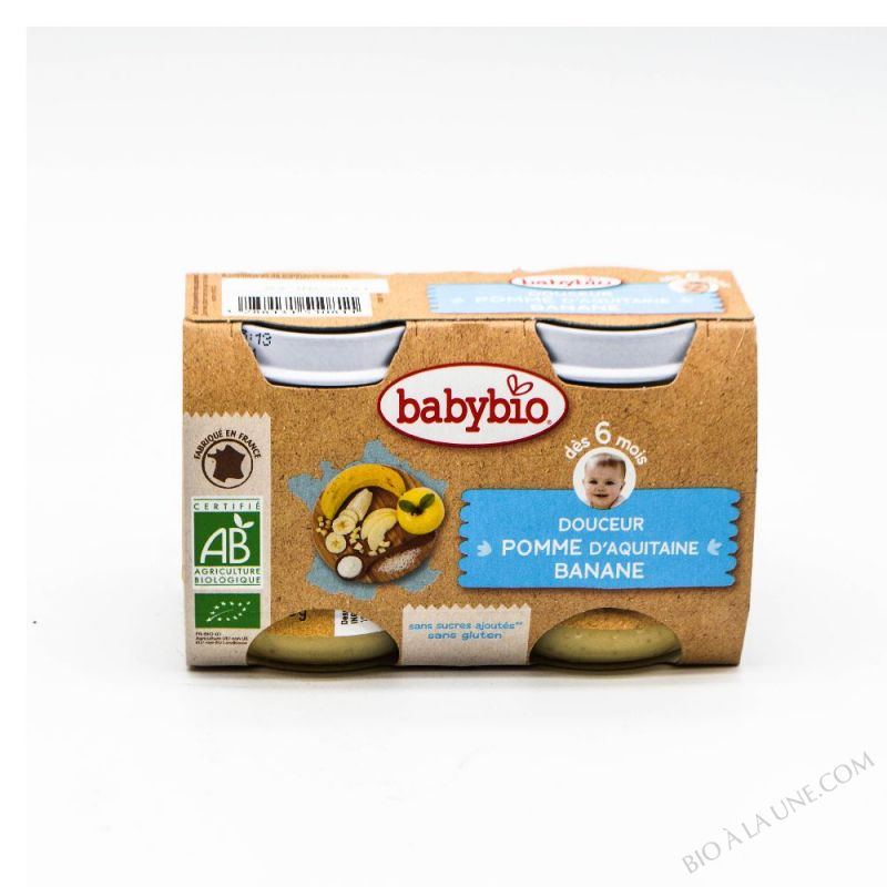 Petits pots Douceur Pomme Banane 6 mois 2x130g