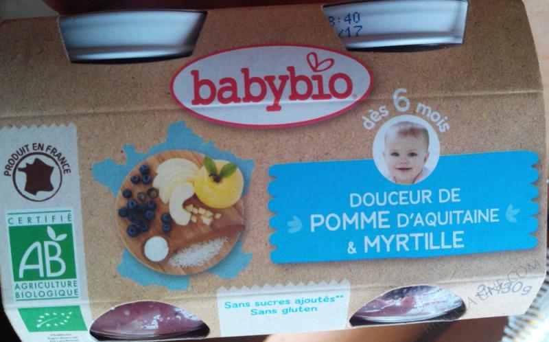 Petits pots Douceur Pomme Myrtille 6 mois 2x130g
