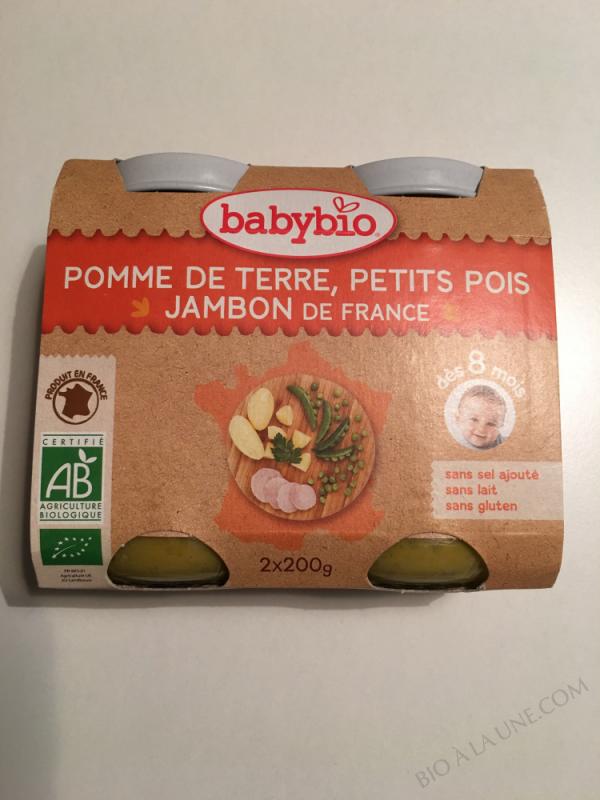 Petits pots Menu Legumes Jambon 8 mois - 2x200g