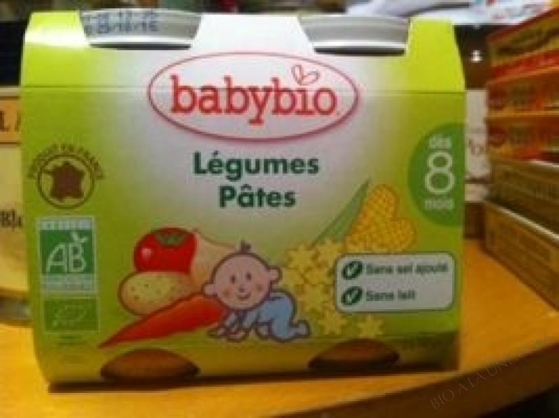 Petits pots Compotee de Carotte Tomate & Pâtes
