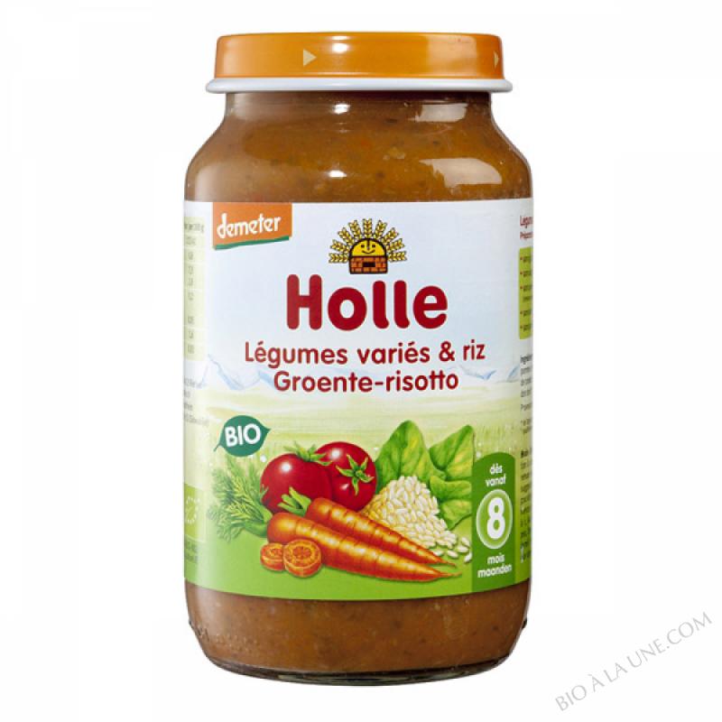 Petit pot legumes varies et riz 8 mois 220g