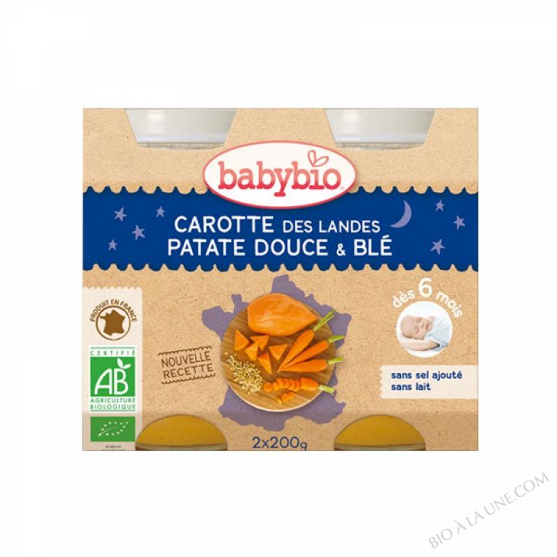 Petits pots Carotte Patate douce Ble 6 mois 2x200g