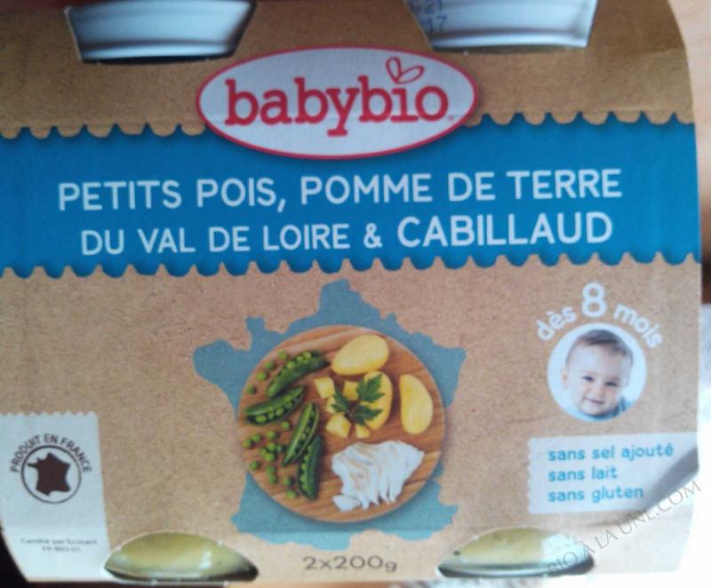 Petit pots Menu Legumes Cabillaud 8 mois 2x200g