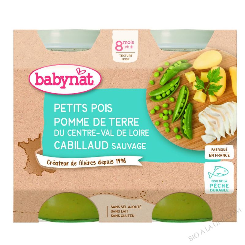 POT BB MENU CABILLAUD 2X200G BABYNA