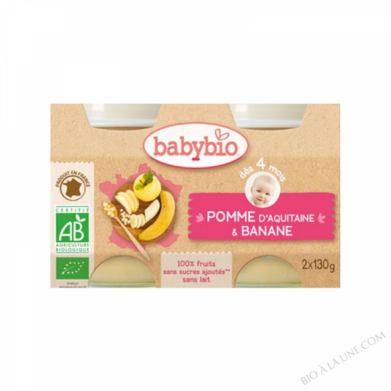 Petits pots Pomme-Banane 4 mois 2x130g