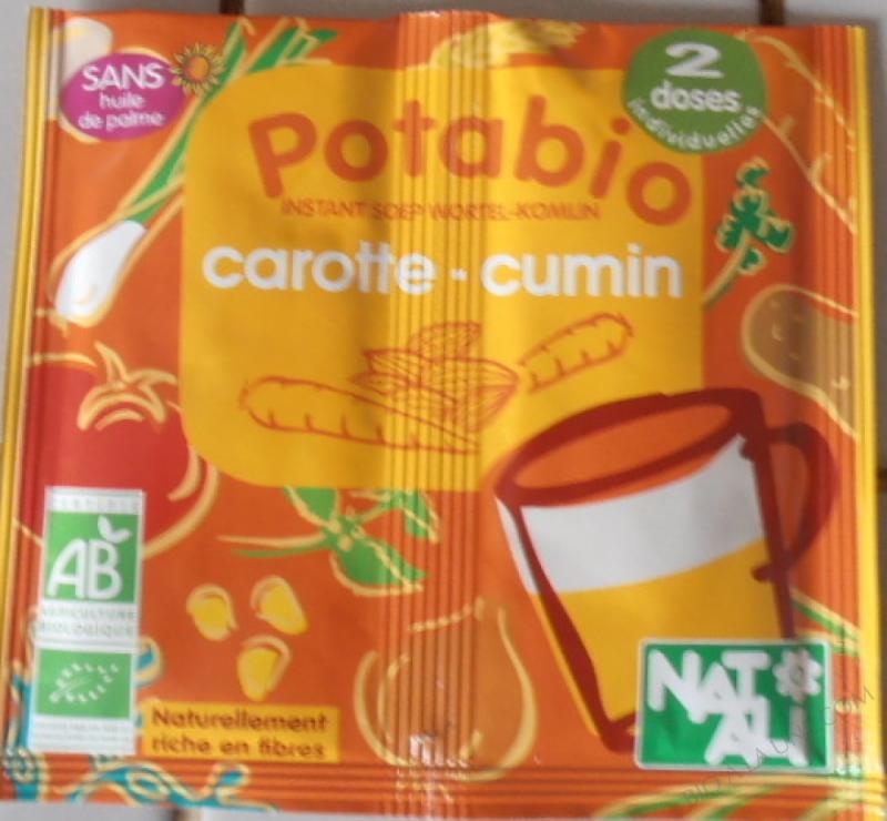 Potage Bio Carottes Cumin 2 x 8,5 gr