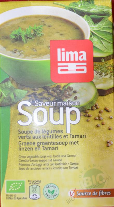 Soupe legumes verts et lentilles 1L