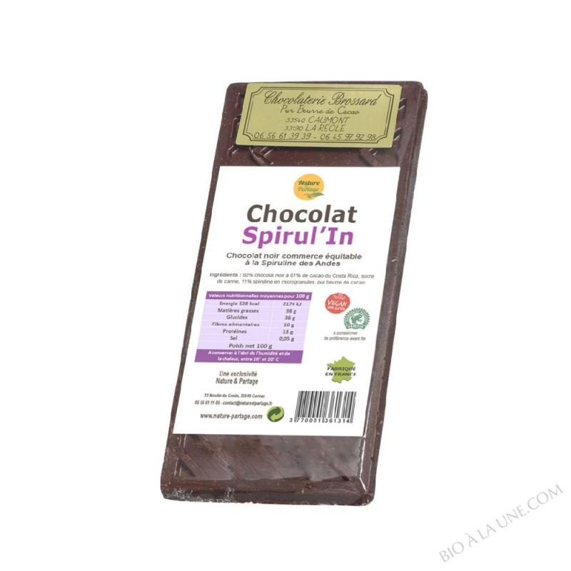 CHOCOLAT SPIRUL'IN 100 G