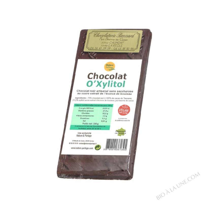 CHOCOLAT O'XYLITOL 100 G