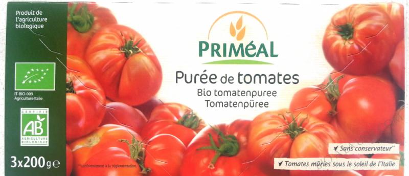 Puree de tomates bio 3x200g