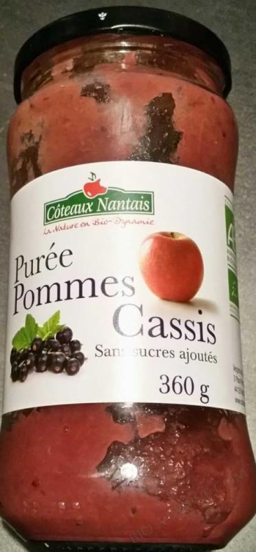 Puree pommes cassis Bio 360g