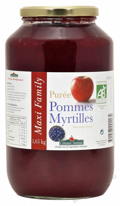 Puree pommes myrtilles Bio 1,65kg