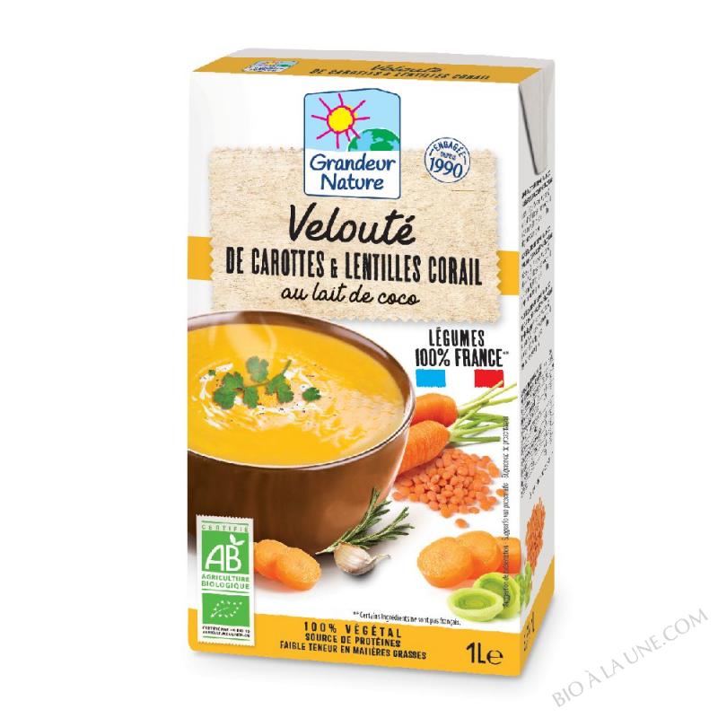 Velouté de carottes & lentilles corail BIO 1L