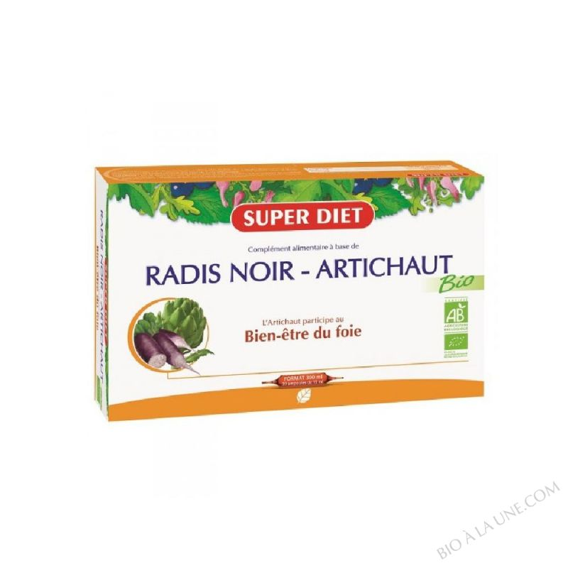RADIS NOIR ARTICHAUT AMPOULES 15ML (20) SUPER DIET