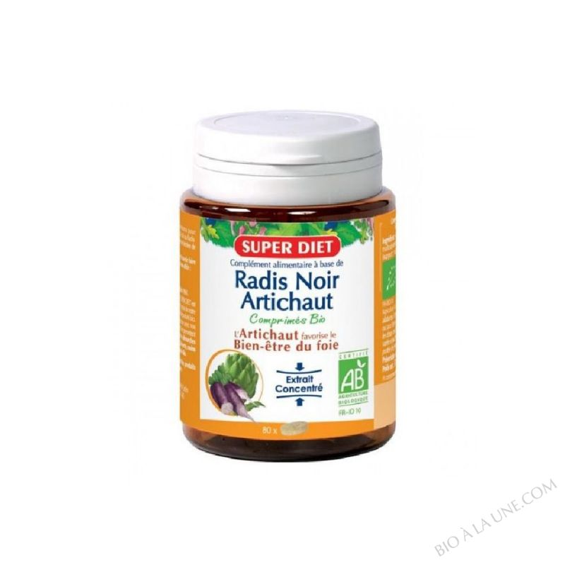 RADIS NOIR ARTICHAUT COMPRIM (80) 30,4G SUPER DIET
