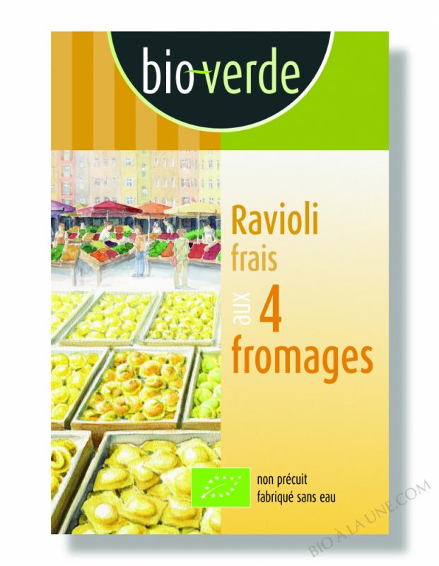 RAVIOLI 4 FROMAGES 250G BIO VERDE