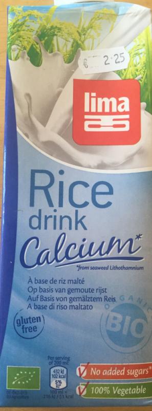 Lait de Riz Calcium 1L