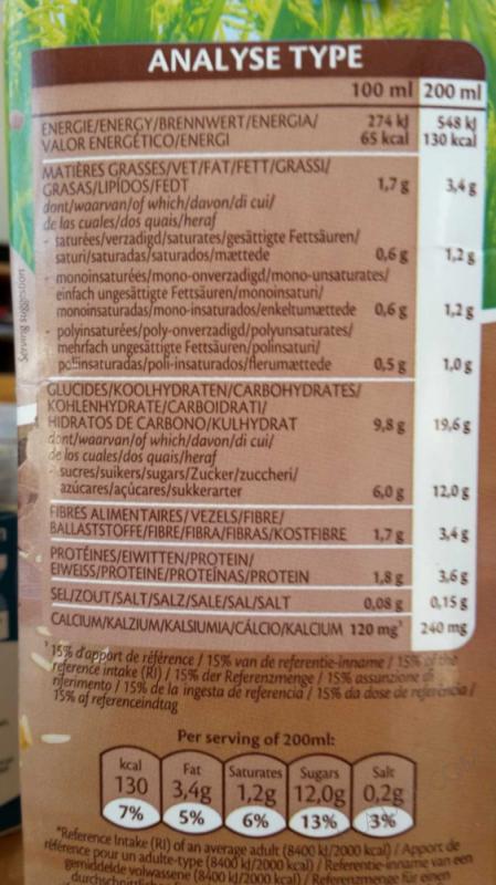 Lait de Riz Choco Soja Calcium 1L