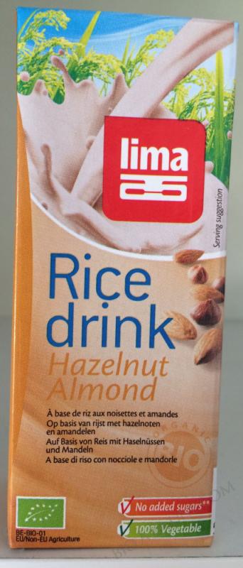 RICE DRINK NOISETTE AMANDE 20CL LIMA