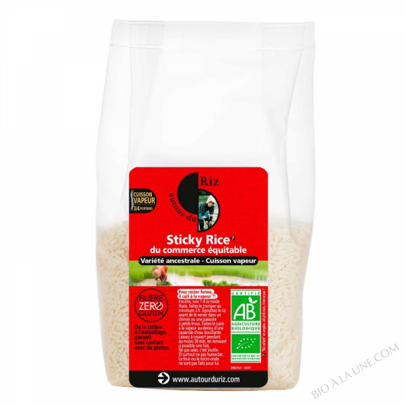 Sticky rice du commerce équitable