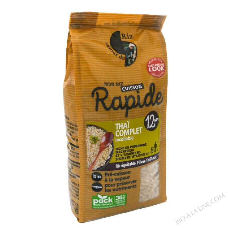 Riz thaï complet étuvé