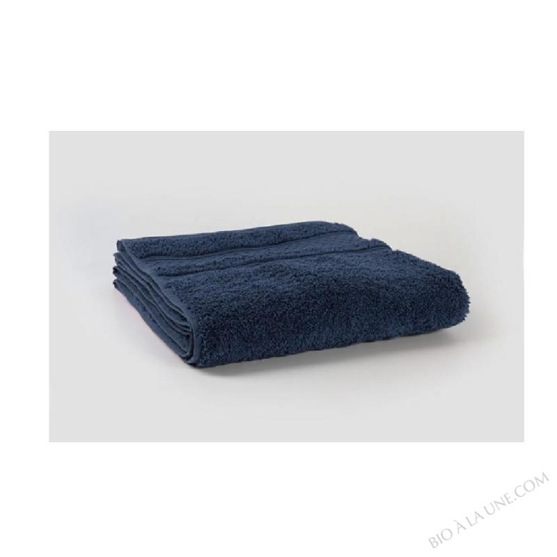 Drap de Bain Coton 100 % Bio 100/140 600g Bleu Ténébreux