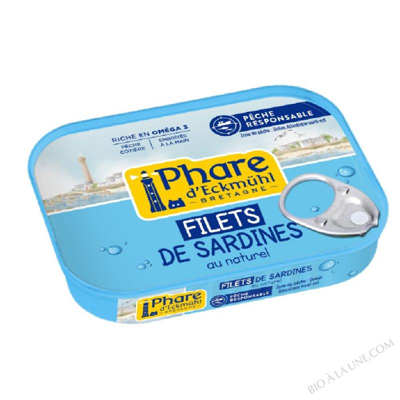 Filets de sardines au naturel
