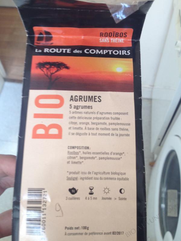 ROOIBOS AGRUMES LA ROUTE DES COMPTOIRS