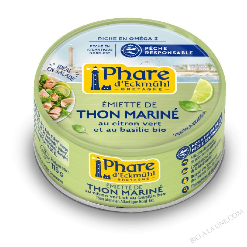 Thon mariné au citron vert et au basilic bio