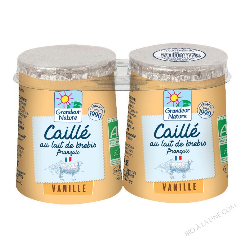 Caillé à la vanille au lait de brebis