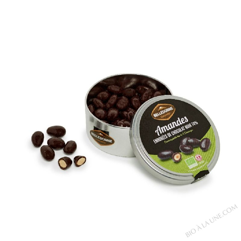 Boite Grains de Saveurs Amandes et Chocolat Noir 74%